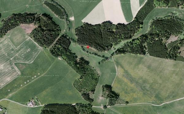 Satelitní snímek s polohou